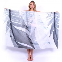 Silver Feathers Sarong